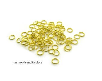 20 rings open 8 mm gold metal