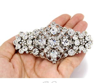 Wedding Hair Clip Rhinestone Crystal Hair Clip Barrette Bridal Jewelry Wedding Jewelry Hair Accessory Bridal Hair Comb Headpiece Macy