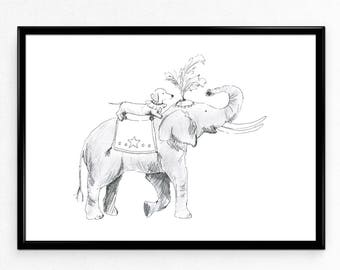 Circus Limited Edition Print, A4
