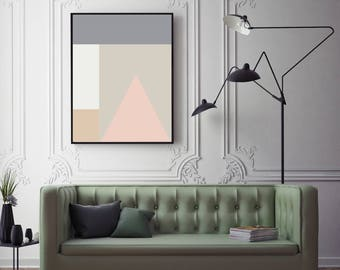 BLUSH - Wall Art Decor, Large Printable Digital Download