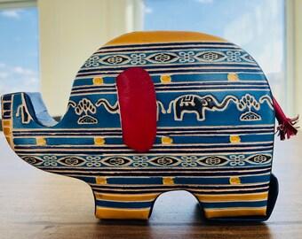Elephant Piggy Bank Coin Money Storage Box for Kids/For Boys/For Girls,Baby Shower Gift Ideas,Nursery Décor Elephant, Floating Shelf Decor