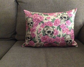 Skull & Rose Pillow