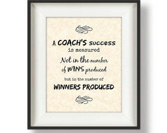 Coach Gifts - Cross Country Coach Gift - Gift for a Football Coach - Soccer Coach Gift - Track and Field Coach - Basketball Coach - Quote