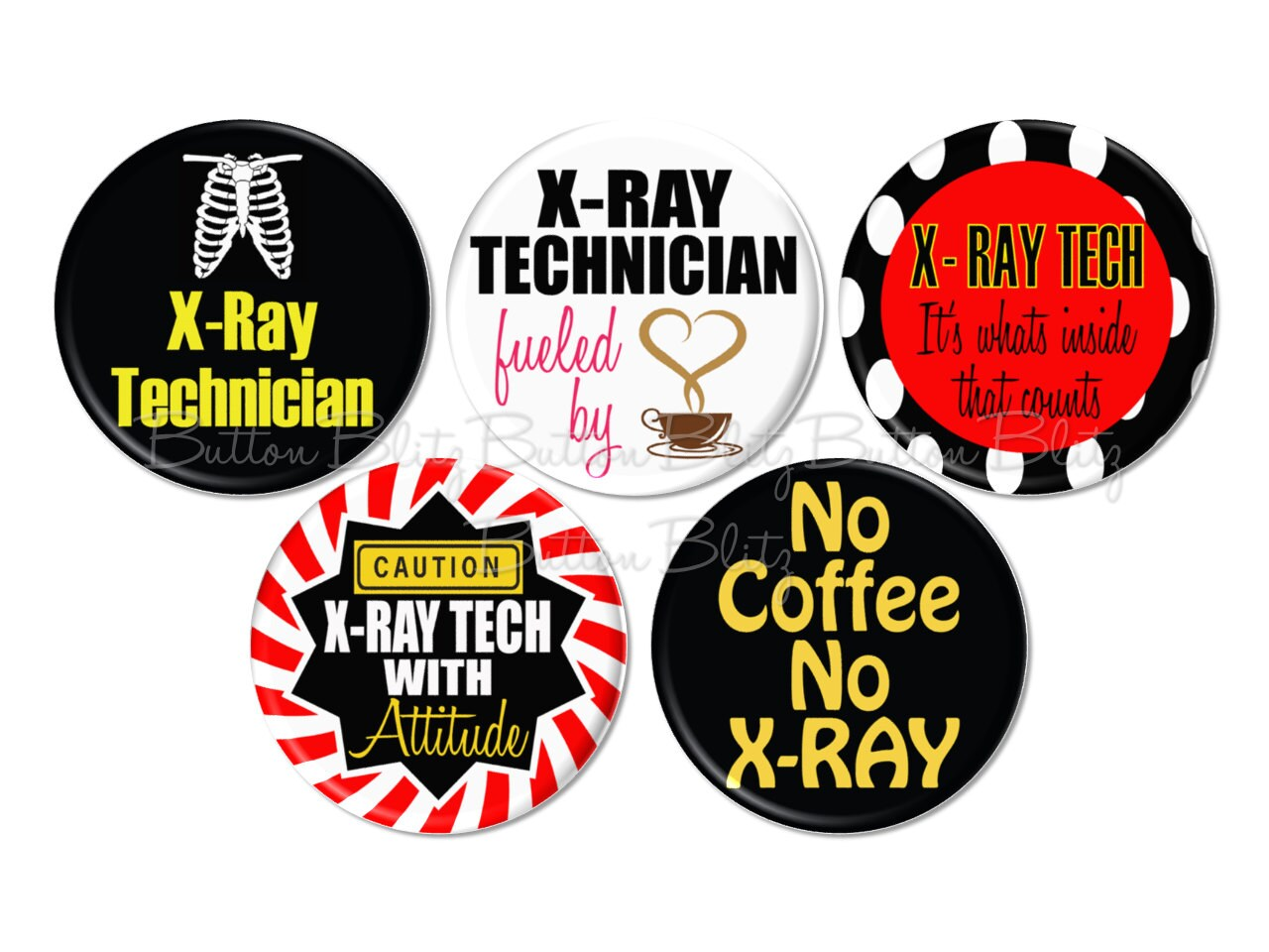 5 x ray tech pinback buttons radiology fridge magnets zoom buycottarizona Image collections