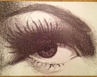 "Black and White Eye No. 1 11.25"" x 17"" Semi-Gloss Poster Print"