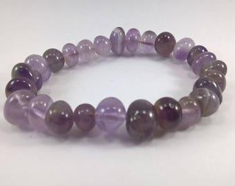 Amethyst bracelet, Amethyst, bracelet, stretchy bracelet, Amethyst nugget bracelet, purple bracelet, lilac bracelet,