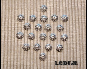 * ¤ Set of 20 bead caps / bead caps filigree - for 8-10mm pearls ¤ * #A3