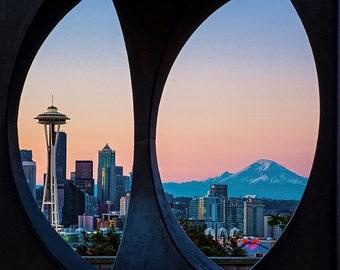 Seattle Skyline Image, Sunrise Photo,Seattle Photo, Seattle Photo,