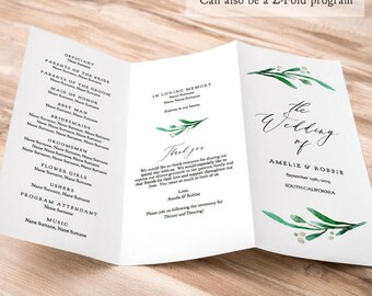 trifold wedding program muco tadkanews co