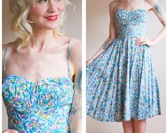 1950s Dress // Tori Richard Honolulu Silk Dress // vintage 50s dress