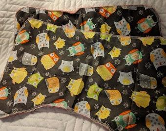 Baby burp cloths - birds
