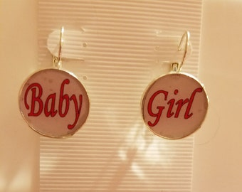 Pink BDSM Baby Girl Earrings