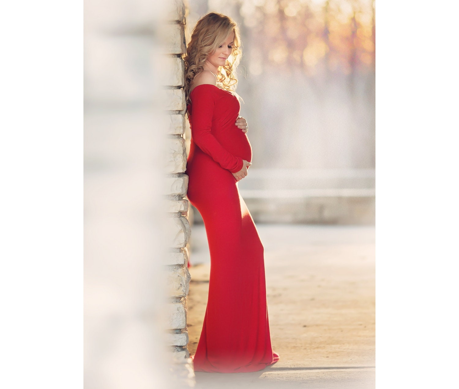 Maternity dress maternity gown long maternity dress fitted zoom ombrellifo Choice Image