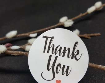 Thank You - Round or Rectangle Envelope Seals - Stickers -Labels