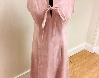 Vera Maxwell Pink Suede 1970's Dress