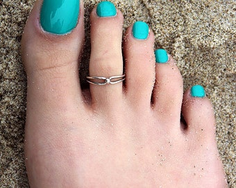 Sterling silver 925 toe ring Small Ball design adjustable toe ring also knuckle ring (T08)