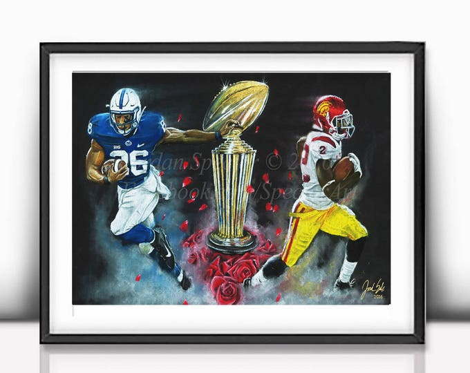 "Rose Bowl ""East vs. West"" open edition art print - 16x20 inches"