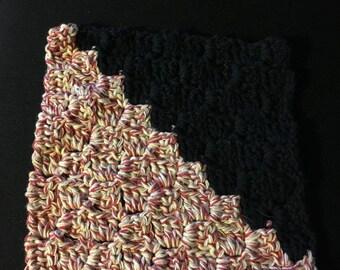Black and Hampton Dishcloth,Crochet Dishcloth,Handmade,Crochet Dish Rag,Handmade 100% Cotton,EcoFriendly,Dish Rag,Cotton Dishcloth,Reusable,