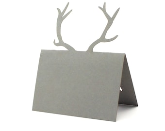 Antler Place Cards set of 10 - Wedding Place Cards, Antler,Table Numbers,Deer, Elk,Woodland,Baby Shower, Rustic Wedding,Bridal Shower,Forest