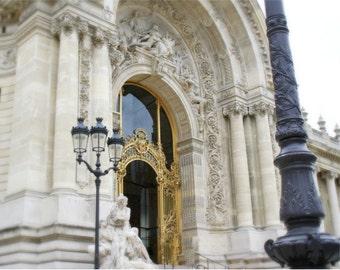 Paris photography paris gold gate travel photograph paris art home decor neutral white paris wall art paris france photograph MON AMOUR