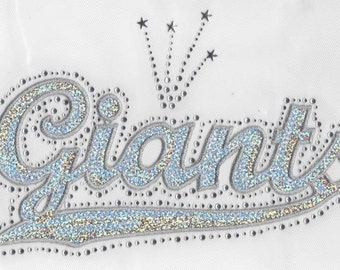 CLOSEOUT SALE Giants Sequins and Rhinestone Transfer Applique ONLY
