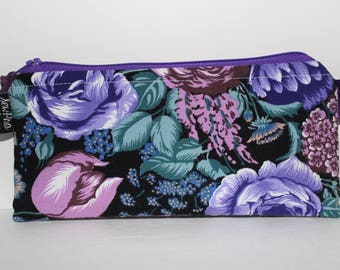 Cash Envelope System Budget Wallet with Tabbed Dividers Dave Ramsey System Coupon Organizer Wallet Coin Pouch Bright Purple Floral