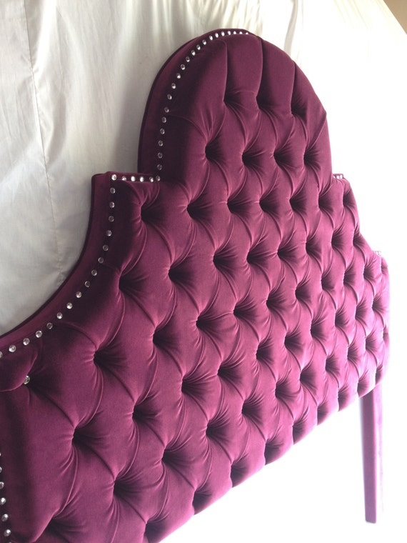 queen bn frame twin b headboard headboards size upholstered bed ebay fabric mount tufted purple s full