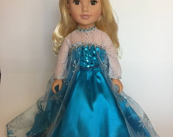 18 inch Doll Dress with Crown