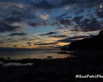 Sunset Photography, Sunset over Lake Erie, Port Colborne Sunset, Landscape Photography, Travel Photography, Lake Erie, Free Shipping