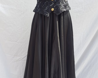 Formal/Prom/Evening Gown- Bari Jay 1970's Victorian Inspired
