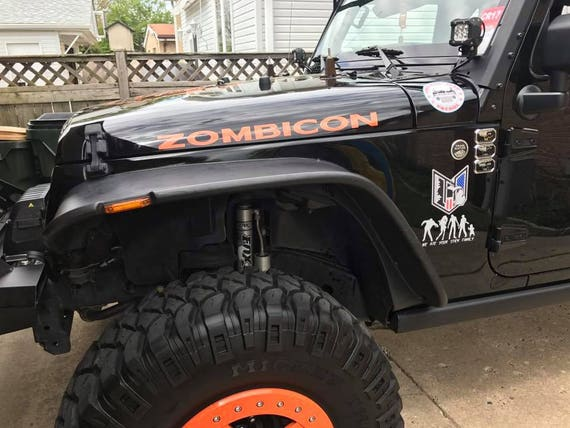 zombiecon, decals, zombie decal, decals for men, decals for women, off road, mud, rock climbing, vechical words, window words, jeep club,