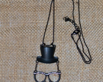 Mustache Necklace, Funny Necklace, Mustache Jewelry, Hipster Jewelry, Hipster Necklace, I love Nerds