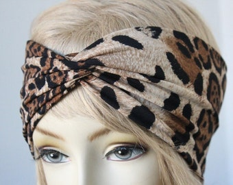 leopard   Print Turbans Headband great accessory for your outfit