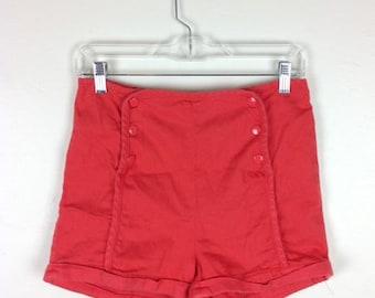 Vintage High Waist Sailor Shorts