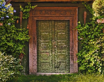 Architectural, Old Spanish Doorway in Nature