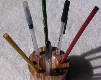 Curly maple pencil holder