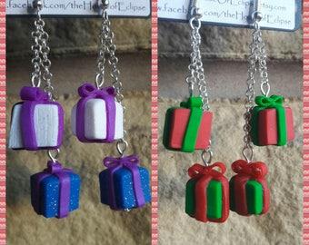 Handmade present earrings. Christmas gifts
