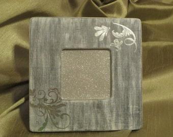 Silver Scroll Frame