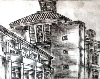 Black and White Architecture Art Print