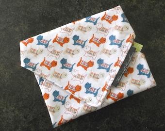 Reusable Sandwich Wrap Little Westie Doggy / Eco Friendly