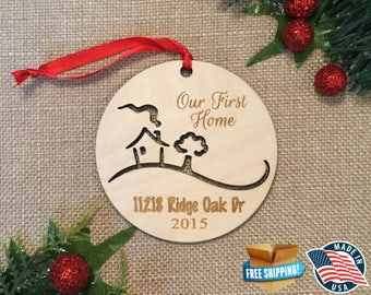 First Home Christmas Ornament *** Couples First Christmas *** Newly wed Newlywed Christmas Gift  *** Personalized Christmas Ornament ***