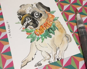 hand-painted postcard for your beloved pet!