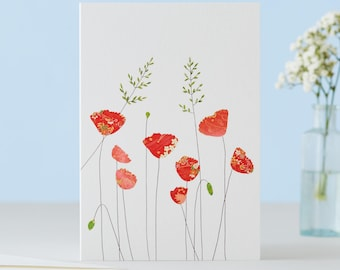 Poppies And Grass Card