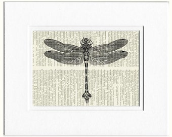 dragonfly I dictionary page print