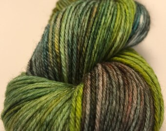 Fall in the Flathead-Hand Dyed DK Weight Yarn-75/25 SW Merino/Nylon
