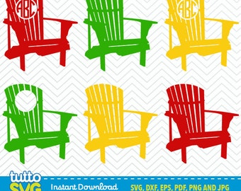 Adirondack Chair SVG Files, Silhouette ...