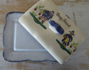 Vintage French Butter Dish, Bourg-Achard Pottery 0118013-498