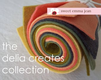 9x12 Wool Felt Sheets - The Delia Creates Collection- 8 Sheets of Felt