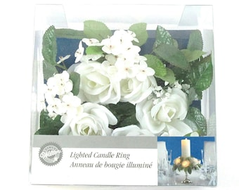 Wilton Lighted Candle Ring, White - Lot of 2