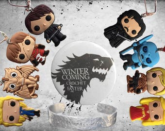 Game of thrones inspired stitch markers for knitting and crocheting / gift envelope available!